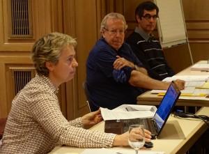 Les débats étaient dirigés par le syndic de la résidence, Sandra Rey (Elegna Immo), Jean-Claude Virfeu (président du conseil syndical) et Pierre Buhet (membre de ce conseil).