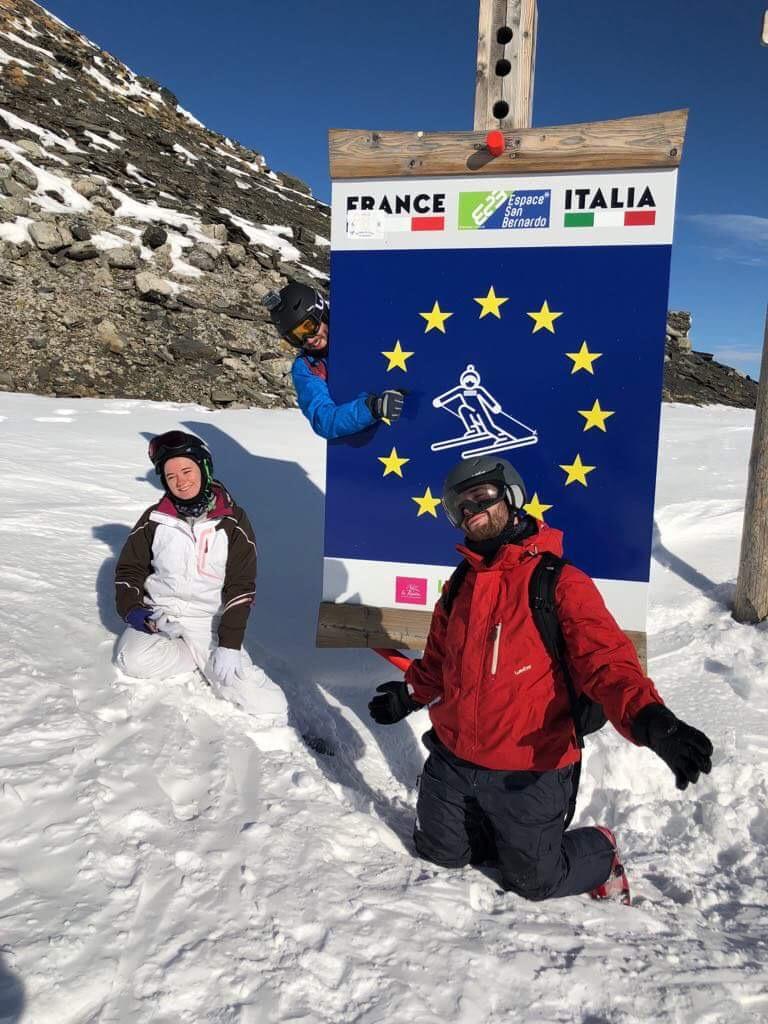 Arrêt photo à la frontière italienne