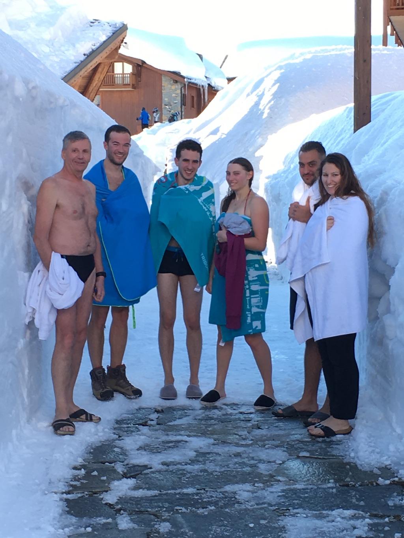 De retour aux Cimes Blanches, chaud et froid à la sortie de la piscine !