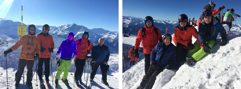 Plusieurs membres de l'ACCB, au sommet du Mont-Valaisan lors de l'ouverture du domaine le 15 décembre.